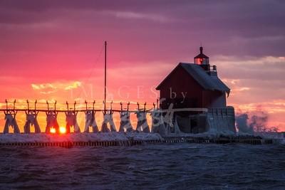 Sunset on Ice II