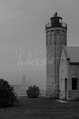 Mackinac Light and Bridge