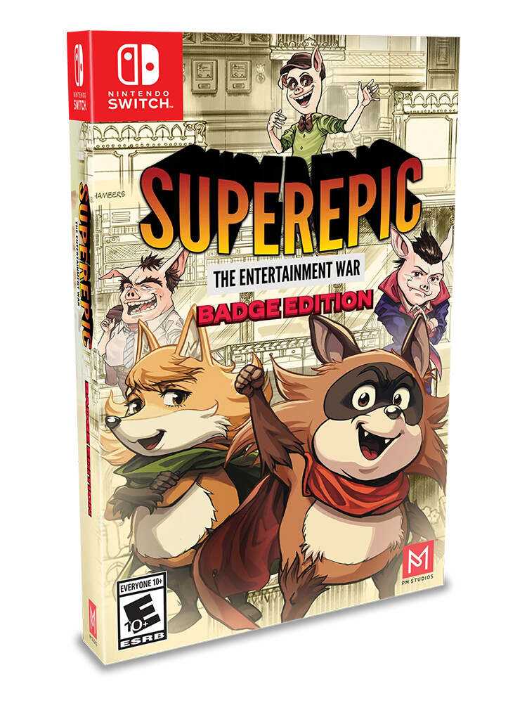 SuperEpic: The Entertainment War - Badge Edition (Switch)