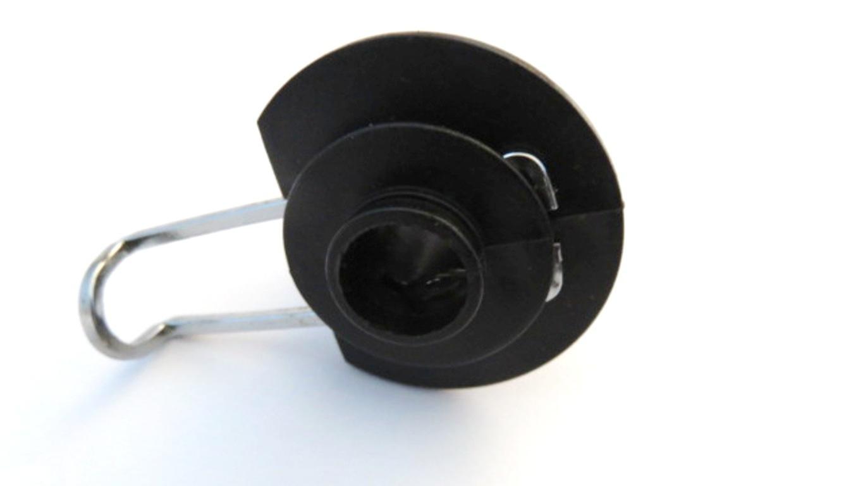 Electric golf trolley wheel spring clip