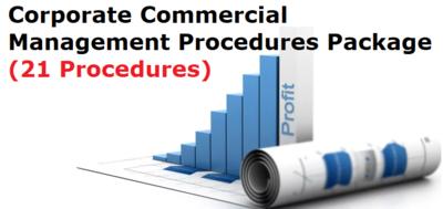 Corporate Commercial Management Procedures Package (21 Procedures)