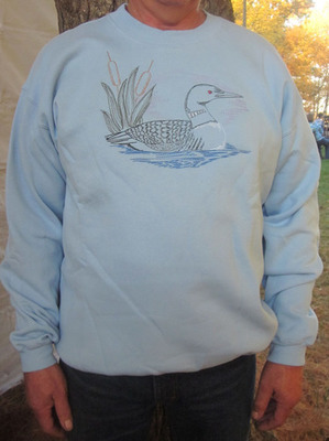 Embroidered Loon Sweatshirt