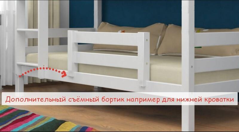 арт. 5010  Дополнительный Съемный Бортик безопасности например для нижней кровати