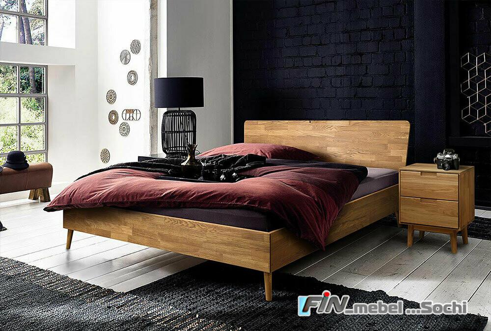 арт. 8396 ДУБ массив Кровать