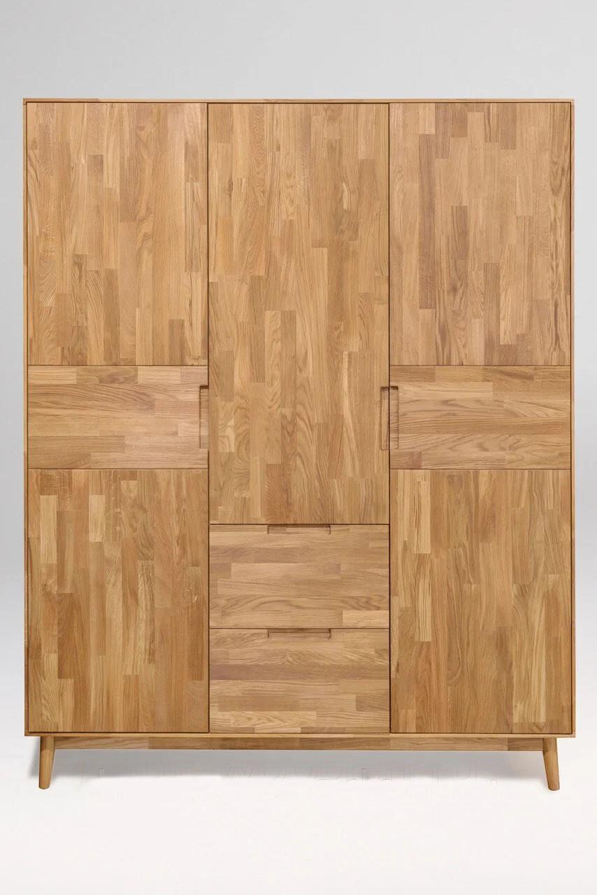 арт. 8400 ДУБ массив Шкаф для одежды 3-х дверный