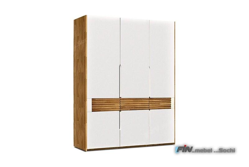 арт. 5067 ДУБ массив Шкаф для одежды 3-х дверный
