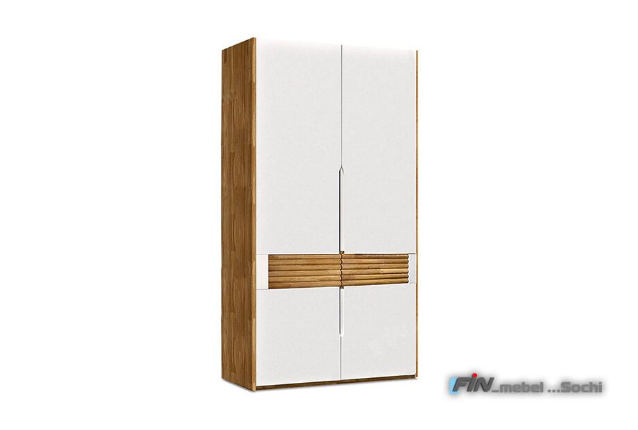 арт. 5066 ДУБ массив Шкаф для одежды 2-х дверный