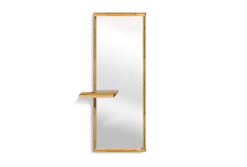 арт. 5073 ДУБ Зеркало настенное с полкой