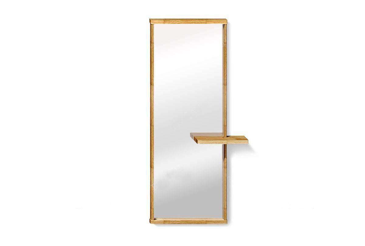 арт. 5073 ДУБ массив Зеркало настенное с полкой
