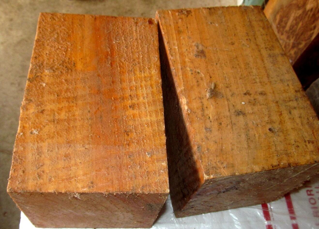 Two cypress 8x5x5