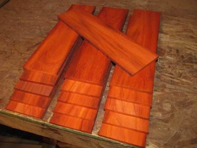 10 PIECES THIN SANDED EXOTIC PADUAK 12
