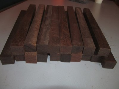 Eighteen (18) Wenge Pen Spindle Turning Blanks  1 X 1 X 12