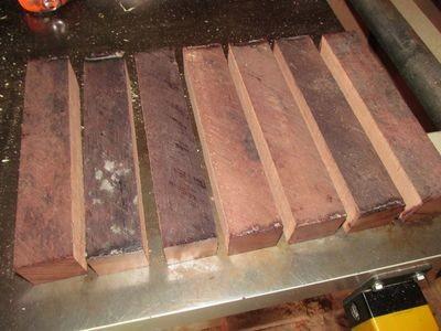 Eight Kiln Dried Purpleheart Turning Blanks  2 X 2 X 11