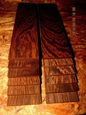 16 PIECES KILN DRIED SANDED EXOTIC WENGE 12 X 3 X 1/8