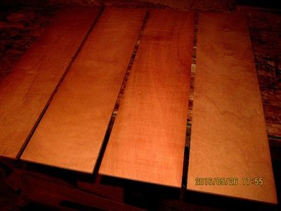 5 PIECES KILN DRIED SANDED EXOTIC AFRICAN MAKORE 24 X 6 X 1/8