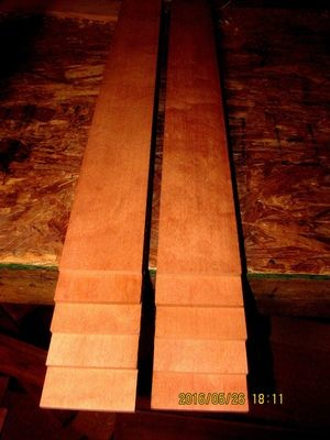 16 PIECES KILN DRIED SANDED EXOTIC AFRICAN MAKORE 24 X 3 X 1/8