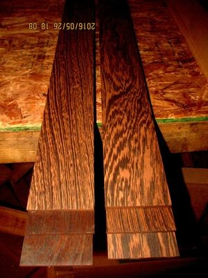 10 PIECES KILN DRIED SANDED EXOTIC WENGE 24 X 3 X 1/4