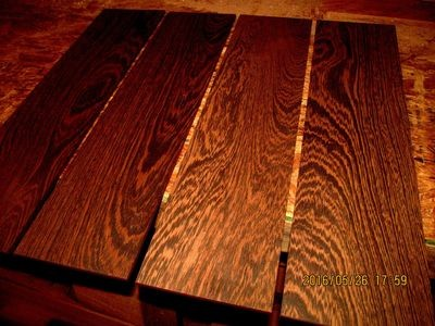 5 PIECES KILN DRIED SANDED EXOTIC WENGE 24 X 6 X 1/4