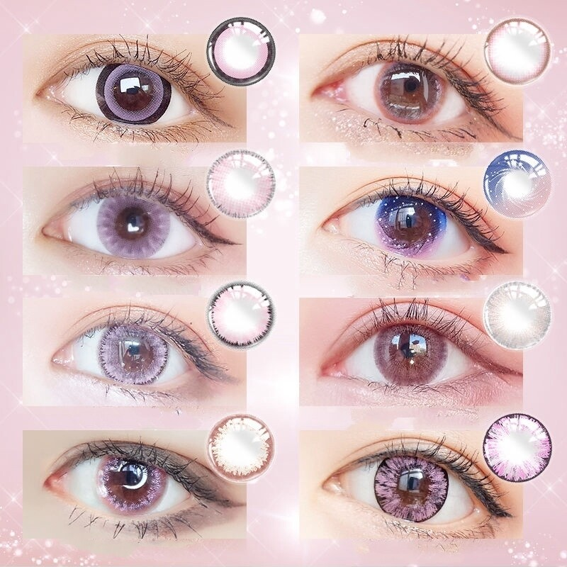01 Special Combo - Sweet Pink Colored Contact Lens Collection (Buy 3pairs @$15 /pair)
