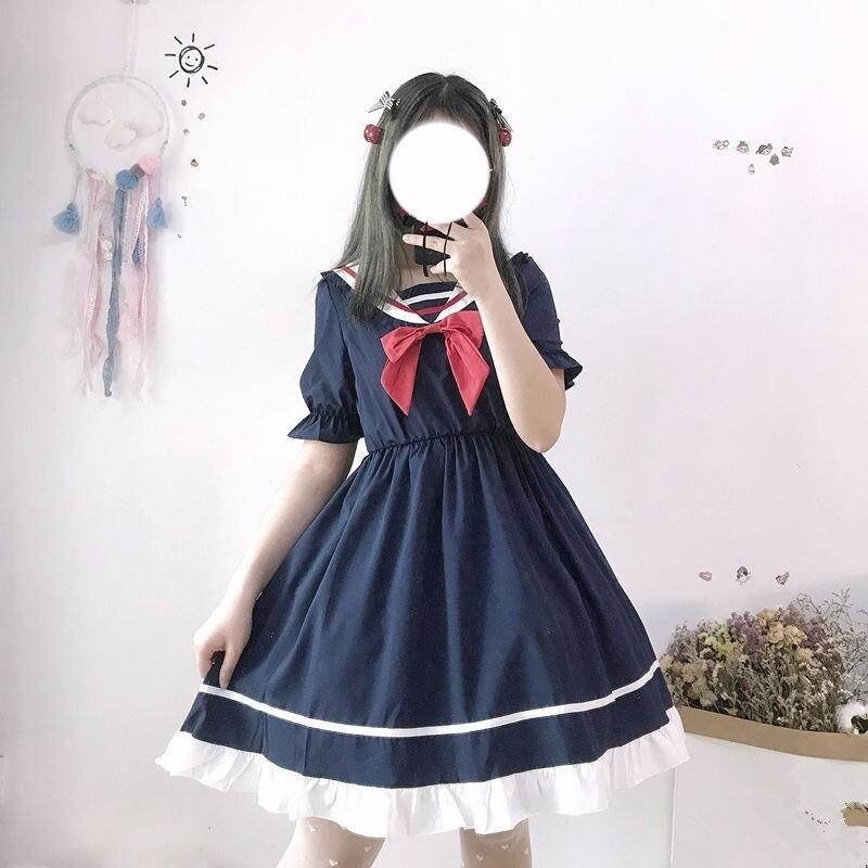 Fashion Japanese Kawaii School Girls Sailor Uniform