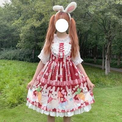 Fashion Japanese Kawaii Lolita Bunny Dress
