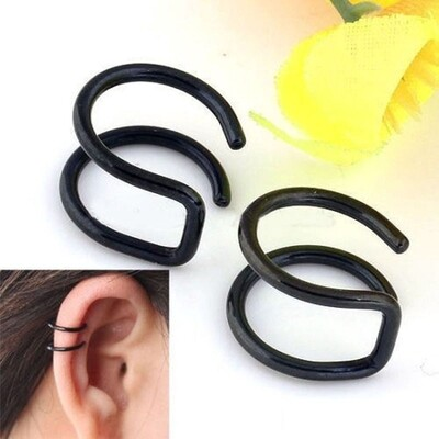 Flye Fashion 1pcs Punk Ear Cuff Wrap Helix Cartilage Earrings Clip No Piercing