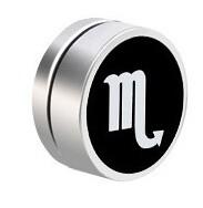 Flye Fashion 1pcs Men Stainless Steel constellation Magnetic Clip On Ear Stud Earrings No Piercing