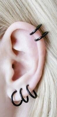 Flye Fashion 1pcs Fashion Steel Nose Rings Piercing Jewelry Lip Nose Hoop Ring False Fake Clip