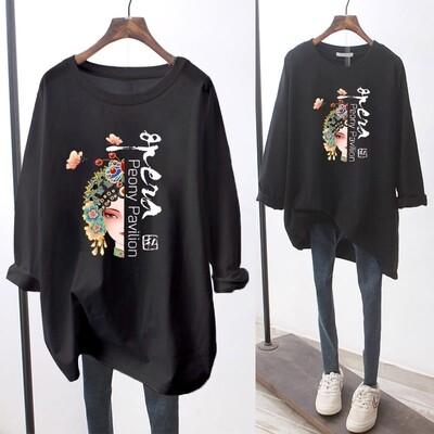 Flye Fashion 1pcs Japan Station autumn women T-Shirts clothes Korean long-sleeve