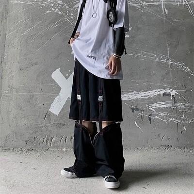 Flye Fashion 1pcs Casual Trousers Design Detachable Metal Buckle Zipper Casual Paratrop