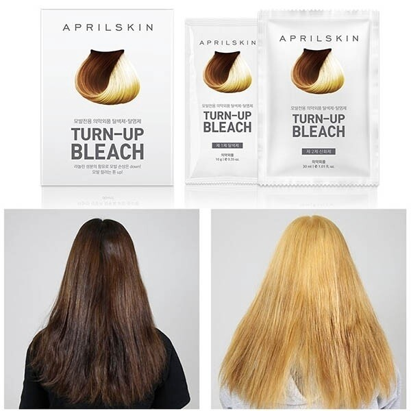 Fashion hair dye 1pack April Skin Turn-Up Bleach Hair Turn Up Hair Color DIY