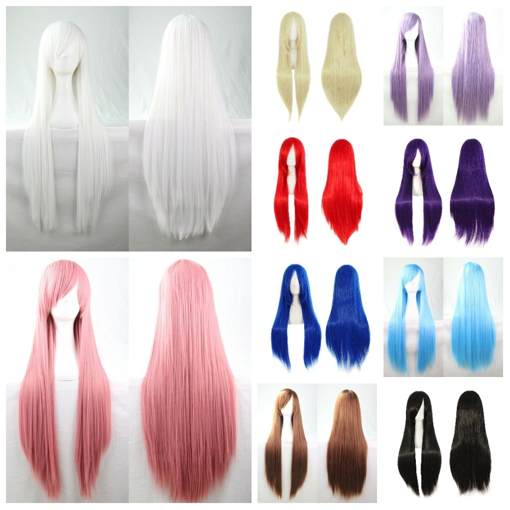 1pcs  Wig Hair Women 80cm Long Straight Fashion Cosplay Costume Anime Party