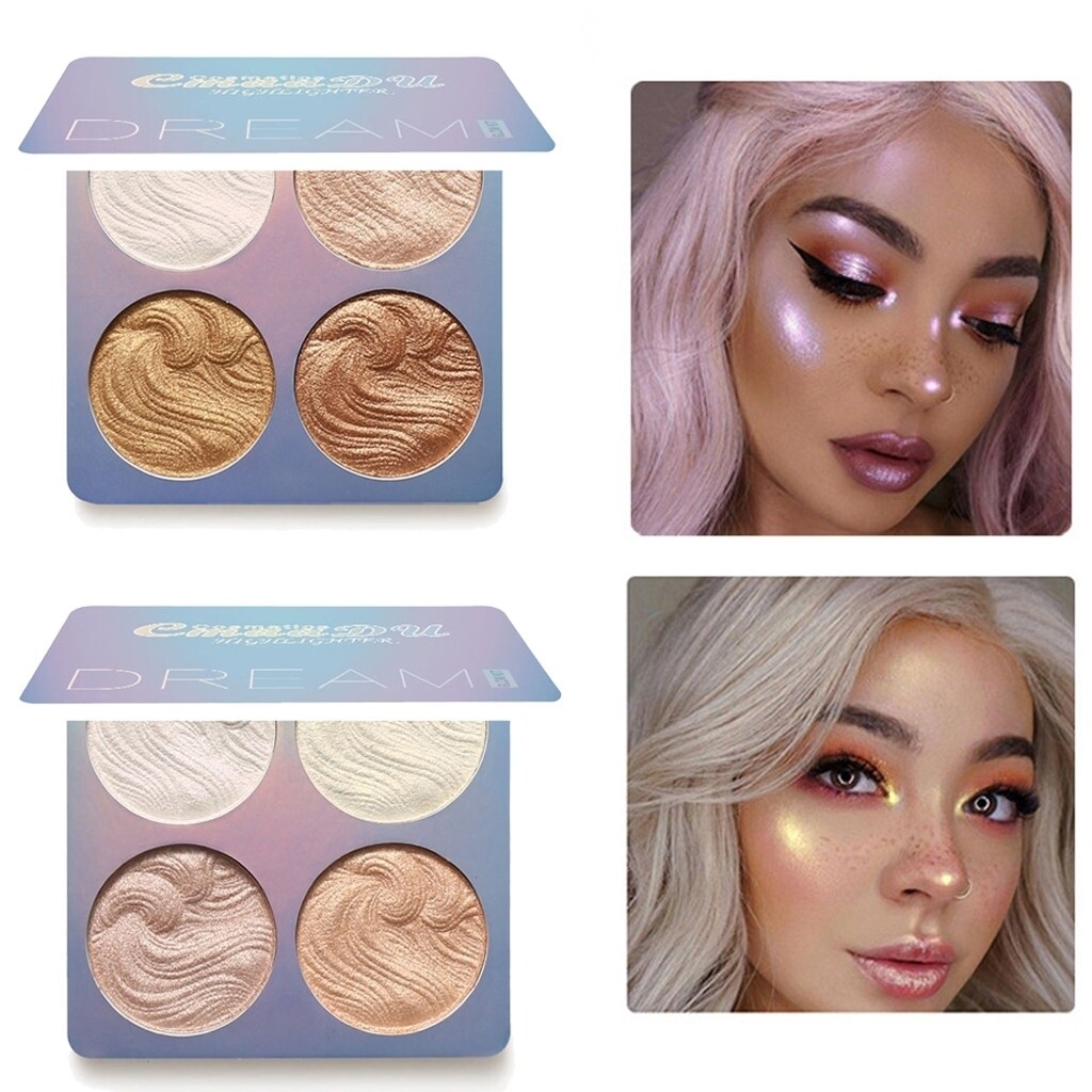 High light powder Professional New Makeup Face Powder 4 Colors Bronzer Make up highlighter gift box