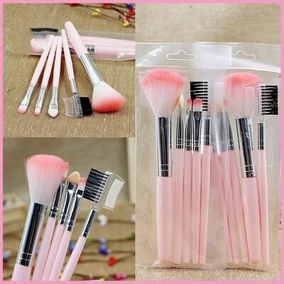 5pcs pink soft Makeup brush Set pink color handle