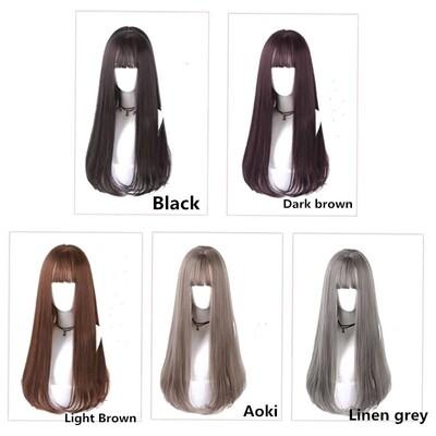 1pcs  Long hair wig female natural long straight hair