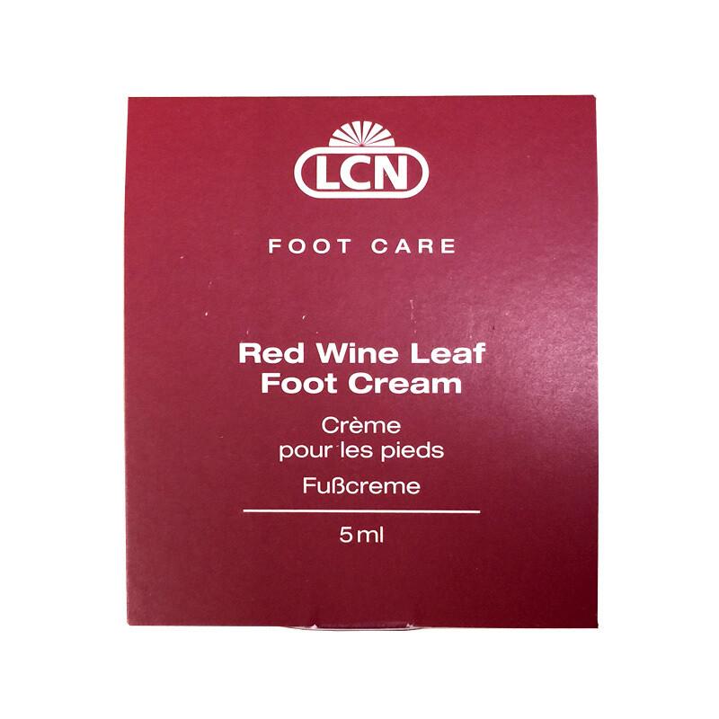 Red wine leaf foot cream sachets