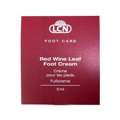 Red wine leaf foot cream sachets
