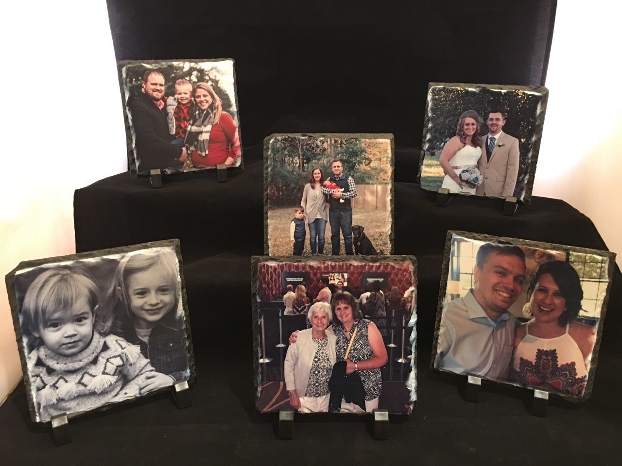 Slate Photo Plaques with a Matte Finish