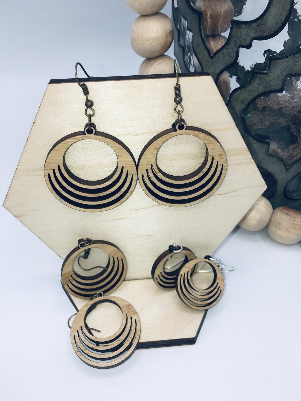 Triple Loop Bamboo Earrings