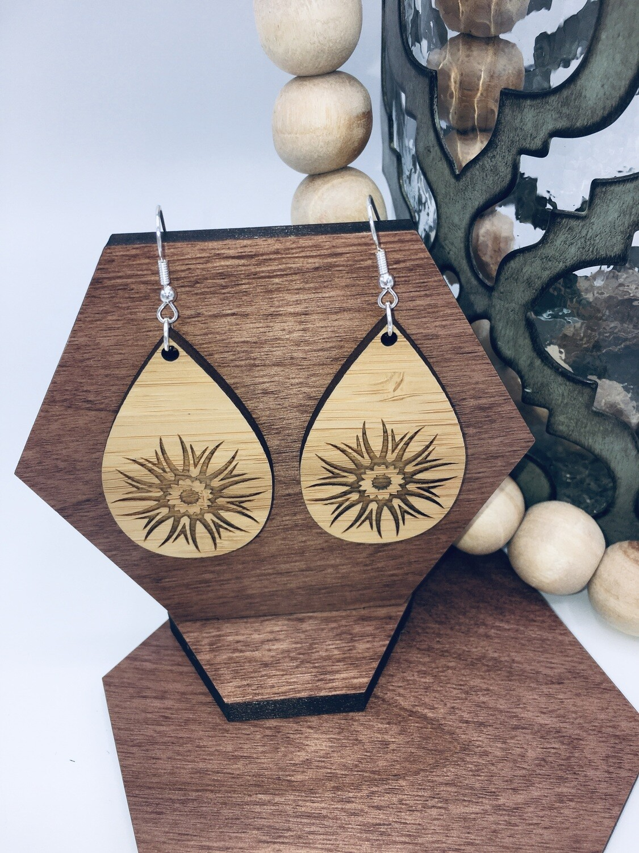 Starburst Bamboo Earrings