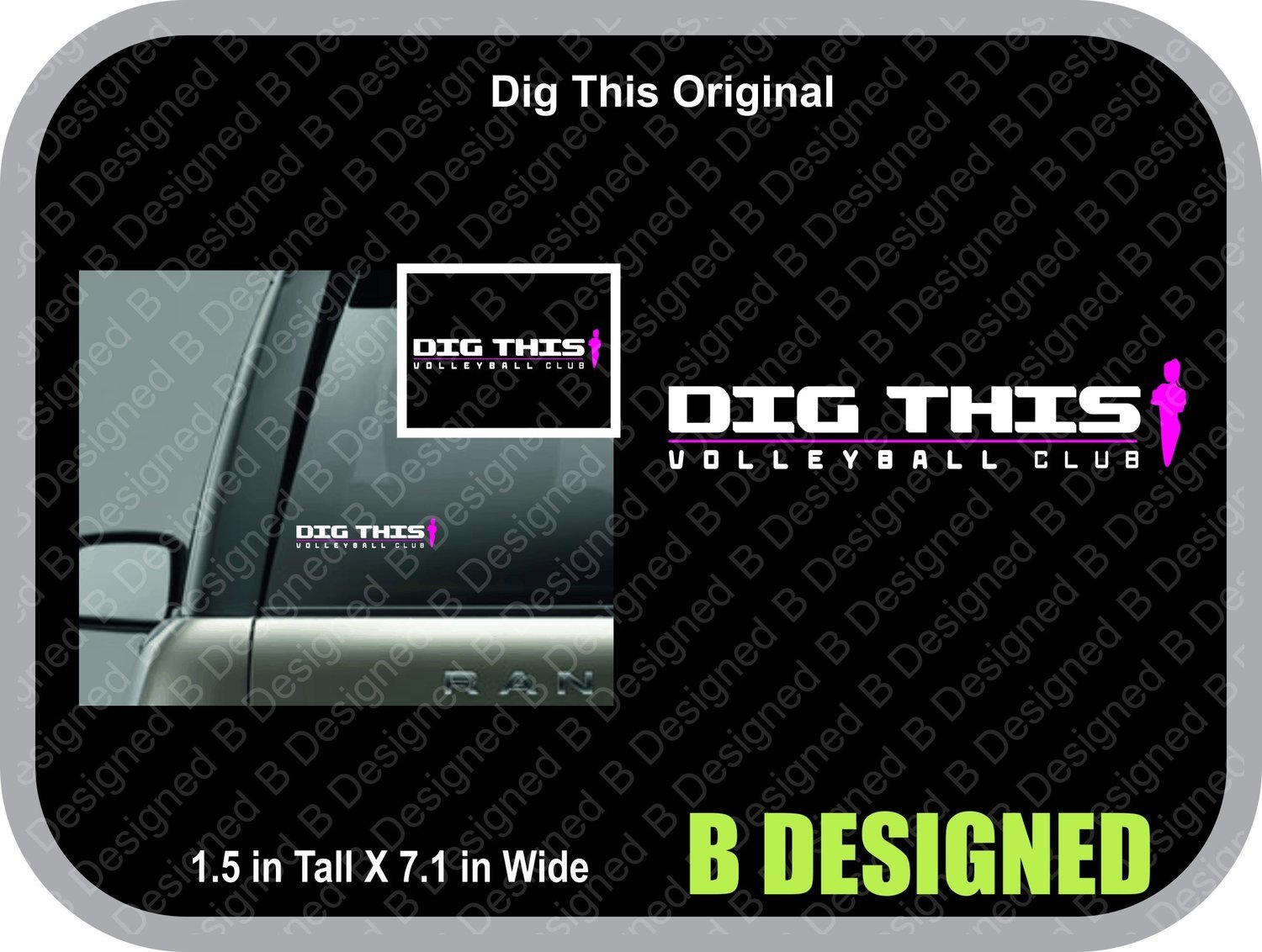 'DIG THIS' Decals
