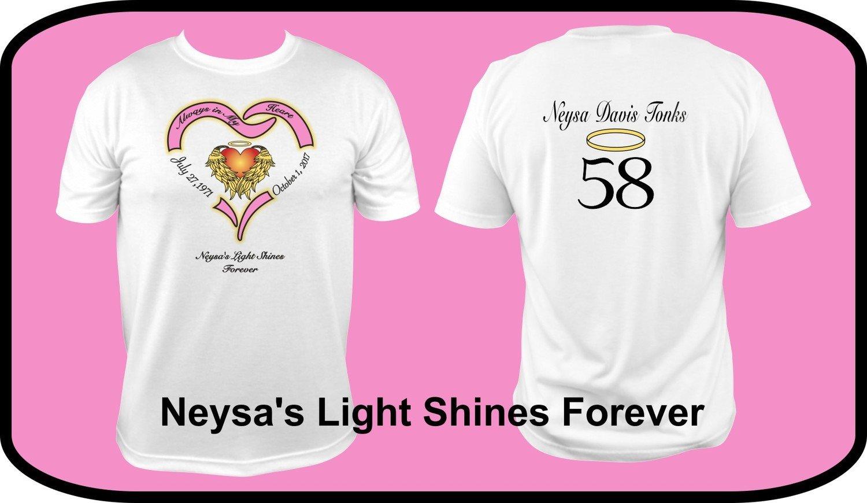 'Neysa's Light Shines Forever Shirt & Wristband'