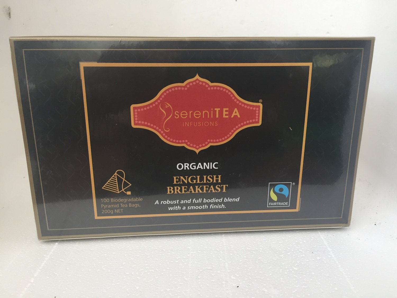 SereniTEA English Breakfast Tea 100 x pyramid tea bags