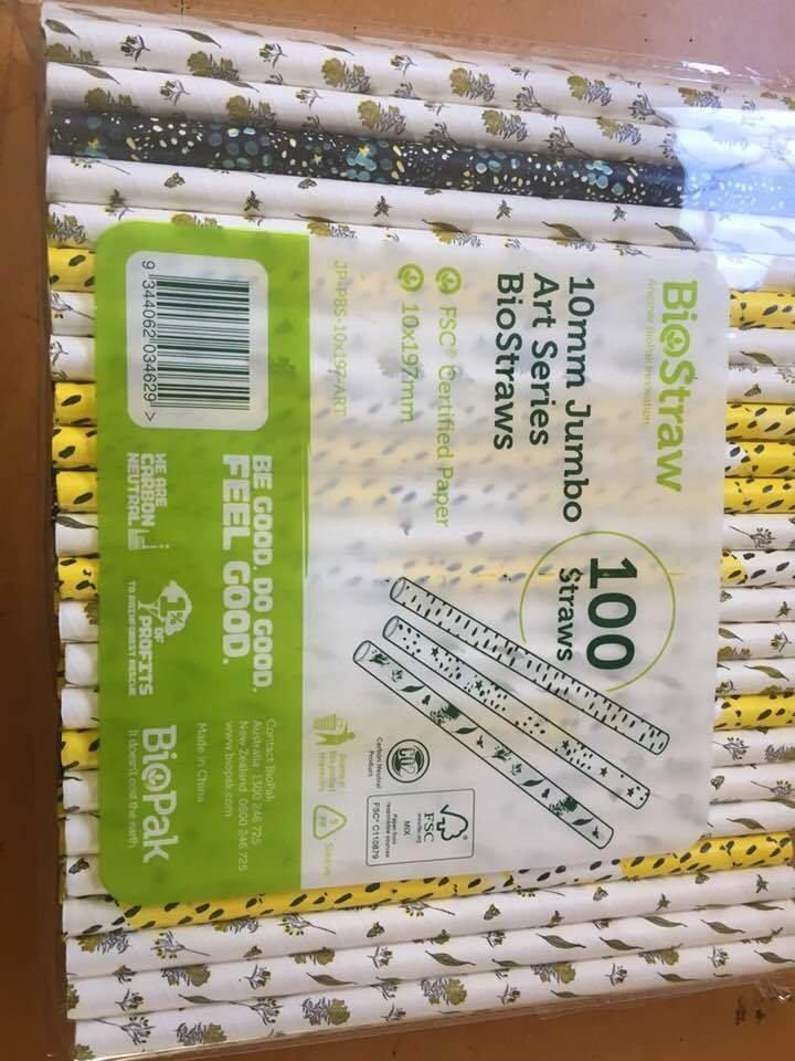 Straws - Jumbo Paper pack of 100