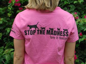 Womens Pink CARE TNR shirt