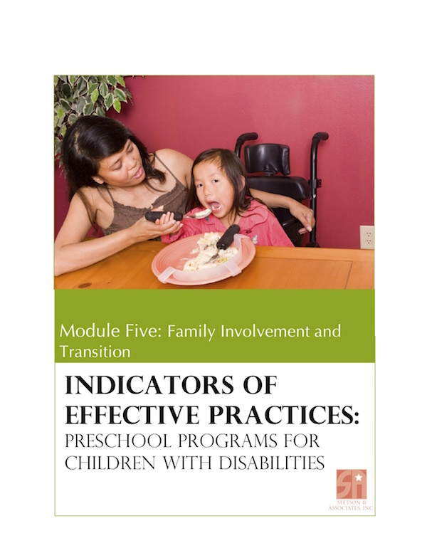 Preschool Programs for Children with Disabilities: Module 5 Family Involvement and Transition