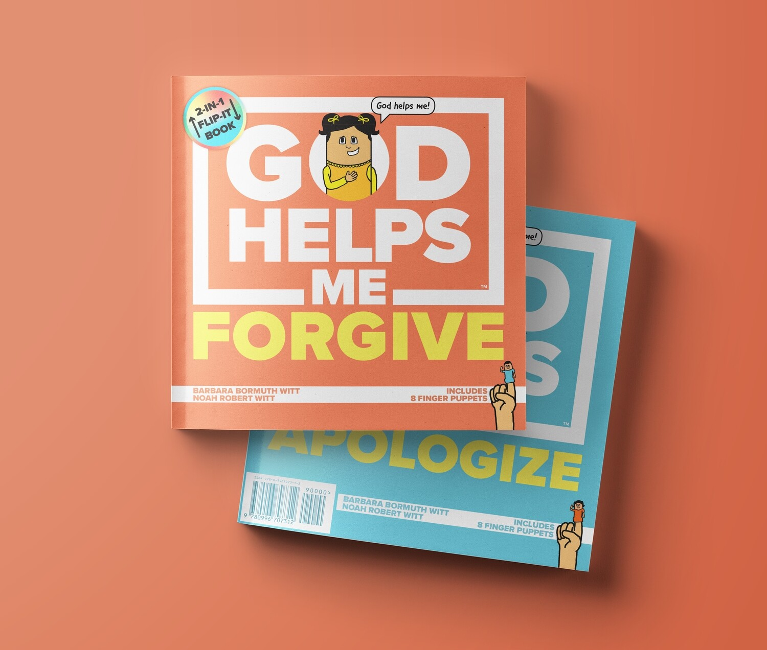 God Helps Me Forgive & Apologize: 2-in-1 Flip-it Book