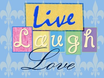 Live Laugh Love Blue Small