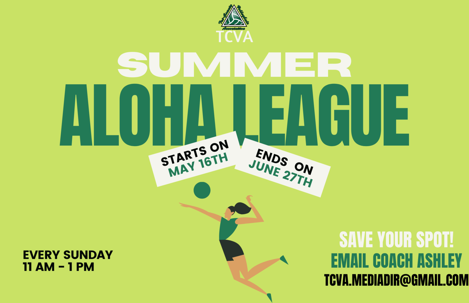 Summer Aloha League NEW ATHLETES
