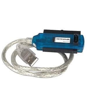 ADAPTADOR USB2.0 A SATA/IDE 2.5/3.5/5.25IN INCLUYE ADAPTADOR CORRIENTE CABLE PODER CABLE DATOS SATA ADAPTADOR MOLEX A SATA ADA-2020
